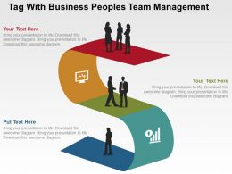 Tag With Business Peoples Team Management Flat Powerpoint Design