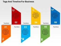 tags_and_timeline_for_business_flat_powerpoint_design_Slide01