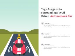 Tags Assigned To Surroundings By AI Driven Autonomous Car