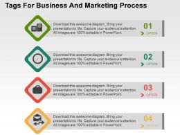 Tags For Business And Marketing Process Flat Powerpoint Design