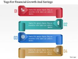 Tags For Financial Growth And Savings Powerpoint Templates