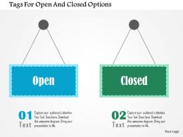 Tags For Open And Closed Options Flat Powerpoint Design
