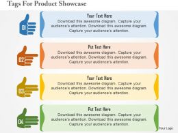 Tags For Product Showcase Flat Powerpoint Design