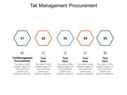 Tail Management Procurement Ppt Powerpoint Presentation Portfolio Background Cpb