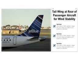 Tail Wing At Rear Of Passenger Aircraft For Wind Stability