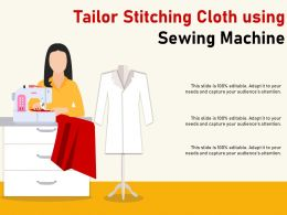 Tailor Stitching Cloth Using Sewing Machine