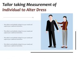 Tailor Taking Measurement Of Individual To Alter Dress