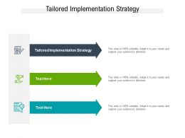 Tailored Implementation Strategy Ppt Powerpoint Presentation Model Graphic Images Cpb