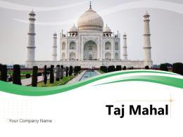 Taj Mahal River Pillars Mosque Tourists