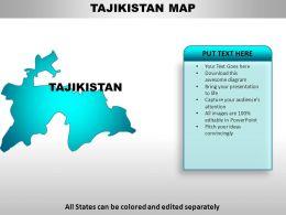 Tajikistan Country Powerpoint Maps