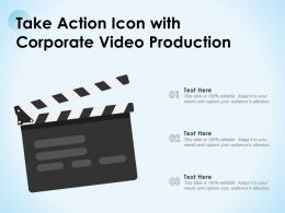 Take Action Icon With Corporate Video Production