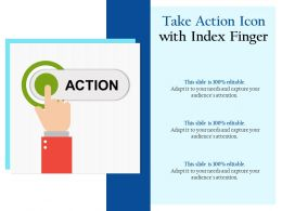 Take Action Icon With Index Finger