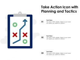 Take Action Icon With Planning And Tactics