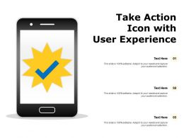 Take Action Icon With User Experience