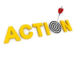 Take Action To Meet Goals Stock Photo