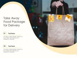 Take Away Food Package For Delivery Infographic Template
