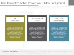 Take Corrective Action Powerpoint Slides Background