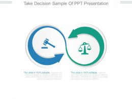 Take Decision Sample Of Ppt Presentation