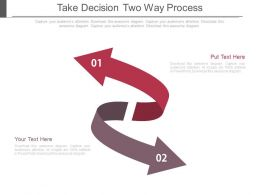 Take Decision Two Way Process Ppt Slides