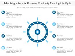Take List Graphics For Business Continuity Planning Life Cycle Infographic Template