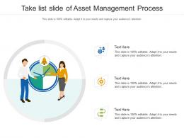 Take List Slide Of Asset Management Process Infographic Template