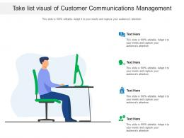 Take List Visual Of Customer Communications Management Infographic Template