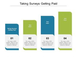 Taking Surveys Getting Paid Ppt Powerpoint Presentation Styles Professional Cpb