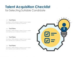 Talent Acquisition Checklist For Selecting Suitable Candidate
