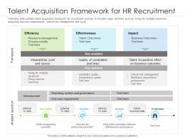 Talent Acquisition Framework For HR Recruitment