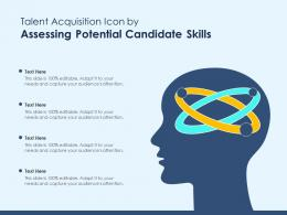 Talent Acquisition Icon By Assessing Potential Candidate Skills