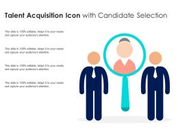 Talent Acquisition Icon With Candidate Selection