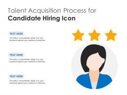 Talent Acquisition Process For Candidate Hiring Icon