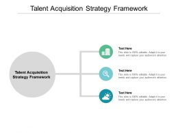 Talent Acquisition Strategy Framework Ppt Powerpoint Presentation Backgrounds Cpb