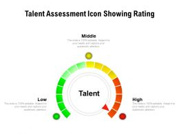 Talent Assessment Icon Showing Rating