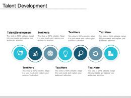 Talent Development Ppt Powerpoint Presentation Inspiration Styles Cpb