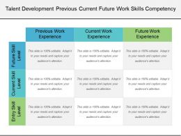 Talent Development Previous Current Future Work Skills Competency