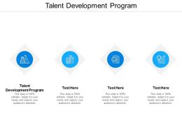 Talent Development Program Ppt Powerpoint Presentation Model Shapes Cpb