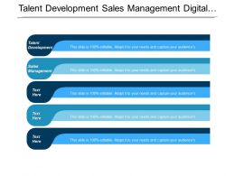 Talent Development Sales Management Digital Growth Cloud Management Cpb