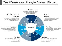 Talent Development Strategies Business Platform Human Resources Strategic Business Cpb