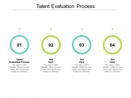Talent Evaluation Process Ppt Powerpoint Presentation Pictures Visual Aids Cpb