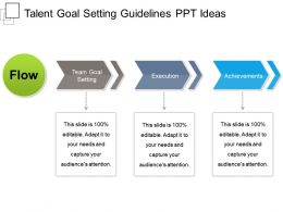 Talent Goal Setting Guidelines PPT Ideas