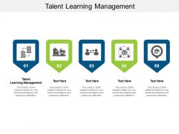 Talent Learning Management Ppt Powerpoint Presentation Summary Cpb
