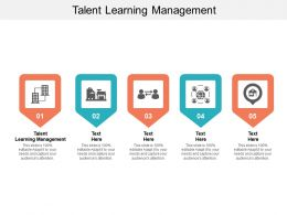 Talent Learning Management Ppt Powerpoint Presentation Visual Aids Layouts Cpb