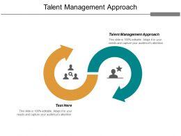 Talent Management Approach Ppt Slides Good Cpb