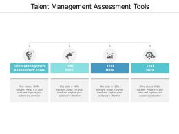 Talent Management Assessment Tools Ppt Powerpoint Presentation Gallery Vector Cpb