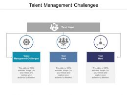 Talent Management Challenges Ppt Powerpoint Presentation Layouts Gridlines Cpb
