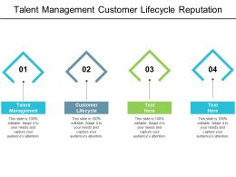 Talent Management Customer Lifecycle Reputation Management Disaster Recovery Cpb
