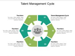 Talent Management Cycle Ppt Powerpoint Presentation Ideas Example Cpb