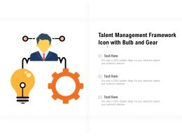 Talent Management Framework Icon With Bulb And Gear