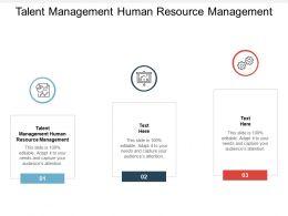 Talent Management Human Resource Management Ppt Powerpoint Outline Cpb